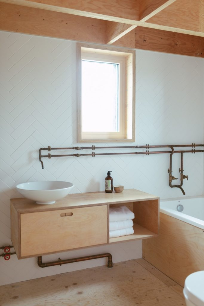 U-Build can be used for furniture and storage - This is a picture of a U-Build bathroom cabinet